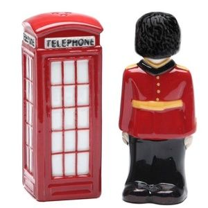 England Guardsman & Telephone Booth Salt and Peppe
